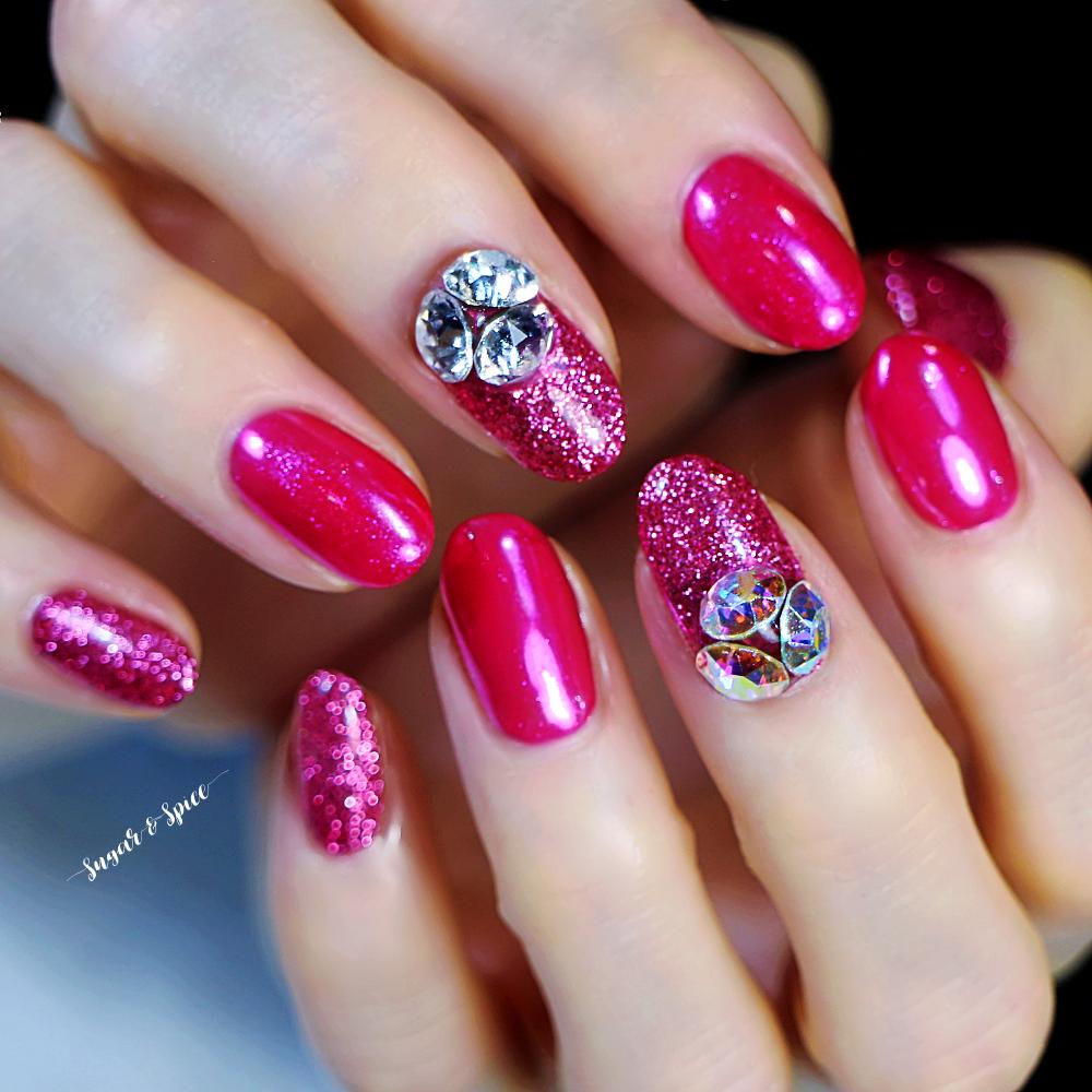 ピンク × ビジュー