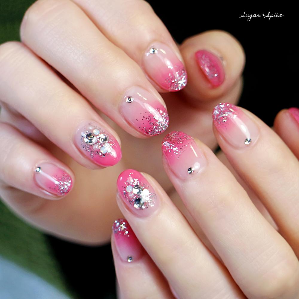 ピンク グラデ